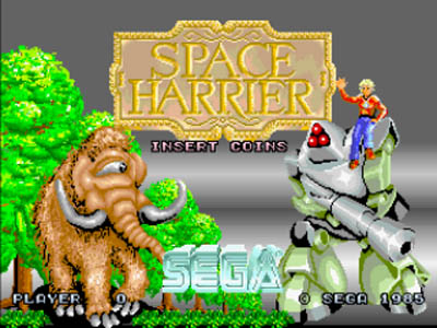 A tela de azulejos de 'Space Harrier'