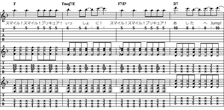 のTAB譜面その1